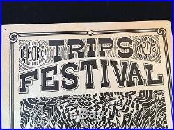 Original 1966 Electric Trips Festival Poster PNE Garden Vancouver Grateful Dead