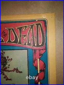 Original 1966 Grateful Dead Poster Avalon Ballroom Skeleton and Roses FD26-2