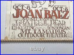 Original 1966 Grateful Dead W Joan Baez Vintage Poster Peace Pooh Mouse Studios