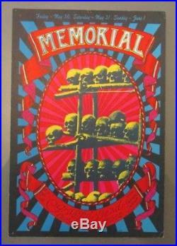 Original 1968 Grateful Dead Memorial Handbill AOR 2.160