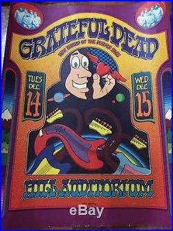 Original 1971 Grateful Dead Poster Gary Grimshaw Ann Arbor Mich