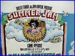 Original 1973 Summer Jam Poster Grateful Dead, Allman Bros. The Band July 28th