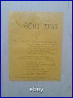 Original 1st Print Grateful Dead Acid Test Concert Poster Handbill RARE! 6 Known