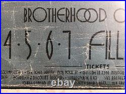 Original BG205 Grateful Dead Flock Humble Pie Concert Poster Fillmore West 1969