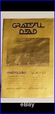 Original Egypt 78 Concert Program/All Access Pass. Vintage grateful dead