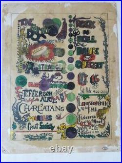 Original Family Dog 1st Psychedelic Concert Poster Dr. Strange Grateful Dead