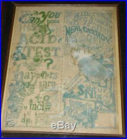 Original First Print Grateful Dead Acid Test Concert Poster NOT Handbill Mint