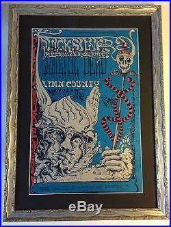 Original GRATEFUL DEAD 1968 Fillmore West Lee Conklin Autographed print poster
