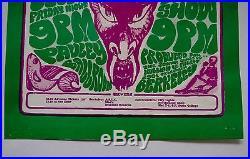 Original Grateful Dead/Country Joe & the Fish Danse Macabre Berkeley 1966 Poster