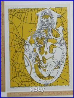 Original Grateful Dead Doors Earl Warren SantaBarbara ConcertPoster 1967 AOR3.46