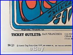 Original Grateful Dead Poster 1966 Fd-26 (3) Family Dog Mouse Studios