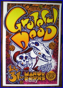 Original Micael Priest Aor 4.159 Grateful Dead Manor Downs Armadillo Poster