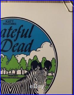 Original Vintage Concert Poster Grateful Dead OKC ZOO Jerry Garcias 40th 1982