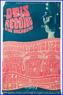 Otis Redding Grateful Dead @ Fillmore Concert Poster- Wes Wilson 43 1966 Dec 20
