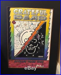 Peter Max 1988 Grateful Dead Tour Poster ORIGINAL signed by Grateful Dead & Max