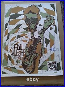 Phil Lesh Autographed Poster 2008 Denver Fillmore Dead & Company