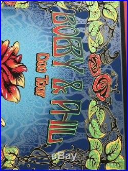 Phil Lesh Bob Weir Duo Chicago Print Concert Poster Grateful Dead