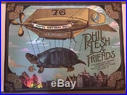 Phil Lesh FOIL Happy Birthday poster print 3/15/16 Justin Helton Grateful Dead