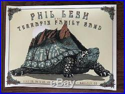 Phil Lesh (Grateful Dead) & The Terrapin Family Band Poster Boulder CO 2017 WOW