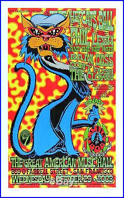 Phil Lesh Ram Dass Hepcat's Ball Family Dog Poster signed numbered Chuck Sperry