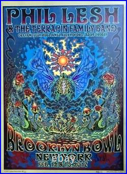 Phil Lesh & TFB Brooklyn Bowl Poster Autographed By Phil, Entire Band & Artist