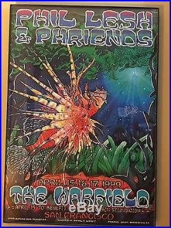 Phil & Phriends Warfield signed Poster 1999 Grateful Dead Phish Fare Thee Well
