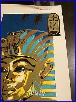 Phish Vegas TUT 2004 Poster By AJ Masthay Linocut 15x21 Grateful Dead Phish SCI