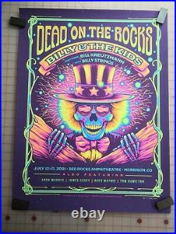 Poster Billy and The Kids, Billy Strings, Red Rocks, numbered limited edition