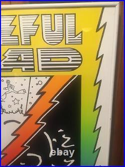 Poster/Vintage/ Framed Grateful Dead / Peter Max Spring Tour 1988 Promo