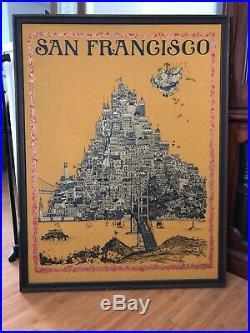 Poster san francisco sparta graphics Michaelson Grateful dead Jefferson Airplane