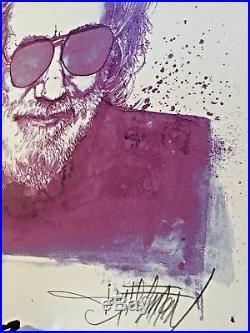 Purple Jerry Garcia Joey Feldman Grateful Dead Art Signed Print Poster /130 Rare