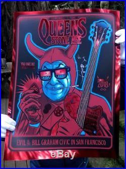 Queens of the Stone Age ZOLTRON qotsa RED MIRROR Edition 35 mondo San Francisco