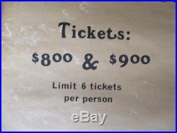 RARE! 1 of 2 known! Vintage Grateful Dead original 1977 concert poster