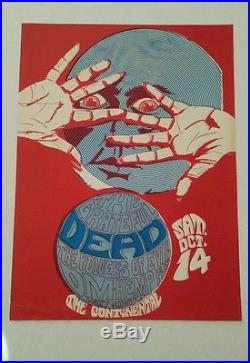 RARE 1967 Grateful Dead/Continental concert poster