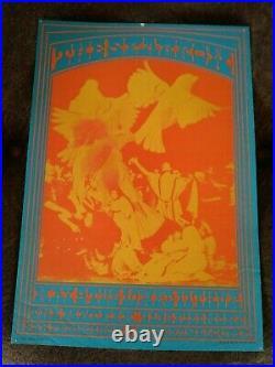 RARE 1967 NEON ROSE VICTOR MOSCOSO NR #14 FILLMORE MATRIX POSTER SPARROW 14 x 20