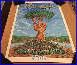 RARE 2009 The Dead Gorge, WA 2009 S/N Concert Poster EMEK Grateful Company Print