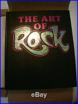 Rare Art Of Rock Presentation Edition Concert Poster Large Table Top Book Mint