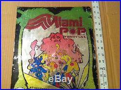 RARE Authentic/Original 1968 Miami Pop Festival foil poster Grateful Dead AOR bg