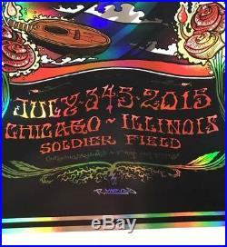 RARE! Grateful Dead Fare Thee Well 2015 Robert Marx Chicago silkscreen poster