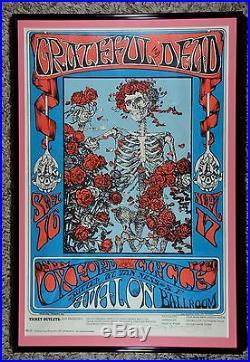 RARE Grateful Dead Skull & Roses Poster Stanley Mouse FD-26(3) Family Dog