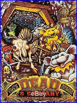 RARE! Matching #set of 2 posters! Grateful Dead and Company 2017 Boulder Masthay