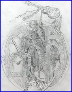 RARE RICK GRIFFIN GRATEFUL DEAD 25 YEARS ORIGINAL ARTWORK NOT POSTER, BG, FD, AOR