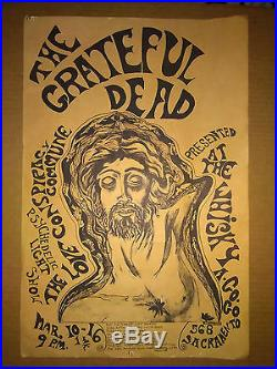 RESTORED Original 1967 Grateful Dead Whiskey a Go-Go Fillmore-Era Concert Poster