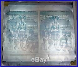 Rick Griff- Grateful Dead Fd 54 Printing Plates And Proofs