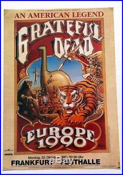 Rick Griffin Grateful Dead Europe 1990 Original Concert Poster High Grade