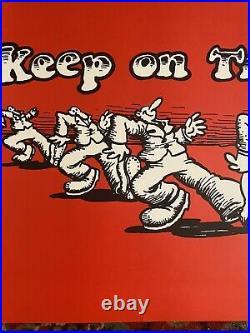 ROBERT CRUMB KEEP ON TRUCKIN ZAP COMICS 1967 Grateful Dead Vintage Poster RARE