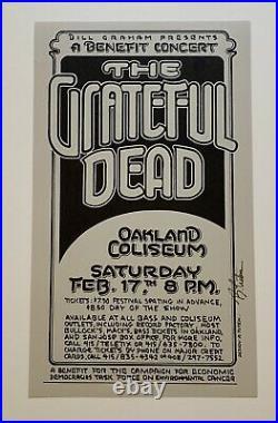 Randy Tuten Grateful Dead Original 1976 Concert Poster Oakland Coliseum Signed