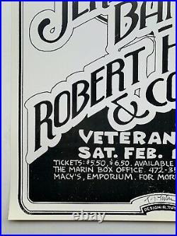 Randy Tuten Jerry Garcia Band and Robert Hunter & Comfort Original 1978 Poster