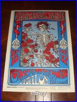 Rare 1966 GRATEFUL DEAD Avalon Ballroom Concert POSTER FD-26-PP-11