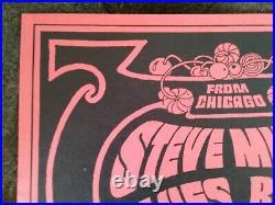 Rare 1966 Neon Rose Moscoso Nr #0 Fillmore Matrix Poster Bindweed Steve Miller
